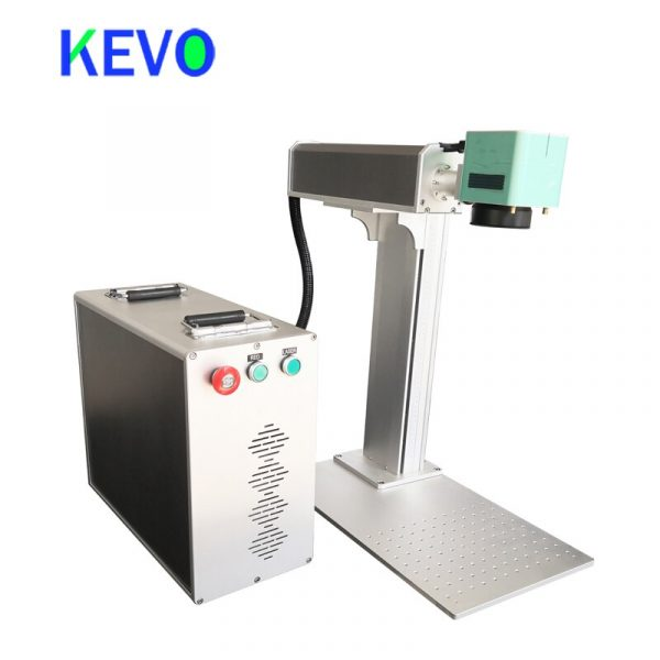 30W small fiber laser marker for small business Fiber Laser metal engraving machine with motorized Z axis
