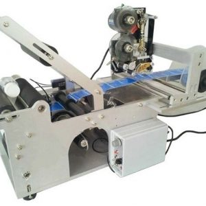Best Price Electric Semi Automatic Round Tube Labeling Machine With Label Printing Machine