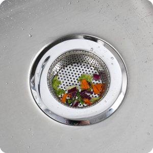 1 Pcs Home Kitchen Sink Filter Stainless Steel Sink Filter Strainers Round Drain Kitchen Bathroom Accessories