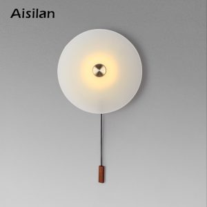 Aisilan LED wall Light Nordic light luxury bedroom bedside lamp with switch entrance porch wall lamp