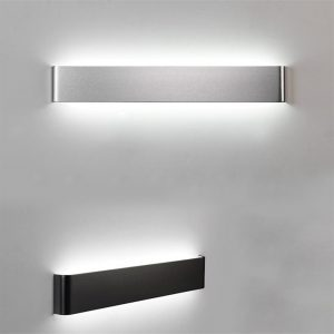 CLAITE Modern minimalist LED aluminum lamp bedside lamp wall lamp room bathroom mirror light direct creative aisle