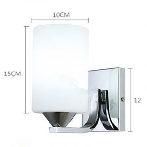 Fashion Glass Wall Lamp Brief Modern Led Mirror Wall Light Corridor Bedroom Living Room Bedside Lamp E27 Novelty Light Lampada