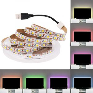 5V USB TV LED Strip Light Lamp Tape 3528 SMD Diode Flexible HDTV TV Desktop Screen Backlight Decor RGB Bias Lighting 0.5M/1M