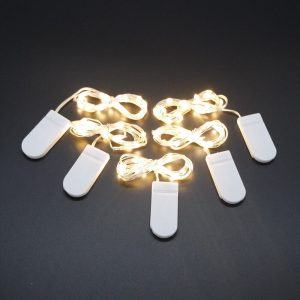 2M 5M 50LED Silver Wire Fairy Garland Lamp LED String Lights Christmas Wedding Home Party Decoration Powered By CR2032 Battery