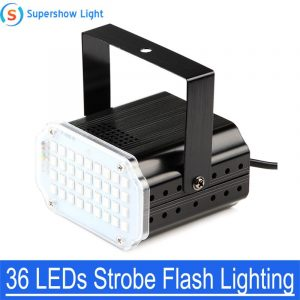 36 Led DJ Disco Strobe Light LED Flash Voice Music Stroboscope Stage Lighting Effect Party Show