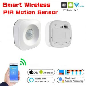High Accurate Smart Home Automation Smart Wireless PIR Motion Sensor Detector Compatible Alexa Google Home Assistant